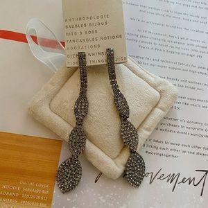 NWT Anthropologie Natasha earrings in grey